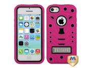 MYBAT Natural Black/Hot Pink TUFF eNUFF Hybrid Phone Protector Case (with Metal Stand) compatible with APPLE iPhone 5C