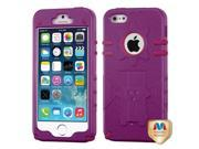 MYBAT Natural Purple/Hot Pink Phantom Hybrid Protector Cover compatible with Apple iPhone 5 / 5s