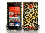 BJ For HTC Windows Phone 8X 6990/Zenith Rubberized Hard Design Case Cover - Cheetah