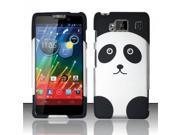 BJ For Motorola Droid RAZR Maxx HD Rubberized Hard Design Case Cover - Panda Bear