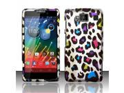 BJ For Motorola Droid RAZR Maxx HD Rubberized Hard Design Case Cover - Colorful Leopard