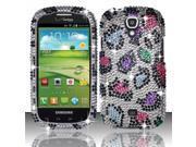 BJ For Samsung Stratosphere 2 i415 Full Diamond Design Case Cover - Colorful Leopard