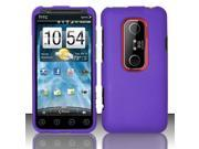 BJ For HTC Evo 3D Rubberized Hard Case Cover