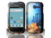 BJ For Huawei Ascend Y M866 Rubberized Hard Design Case Cover - Aquarium