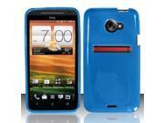 BJ For HTC Evo 4G LTE TPU Gel Skin Case Cover w/ Pattern - Blue