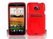 BJ For HTC Evo 4G LTE TPU Gel Skin Case Cover w/ Pattern - Red