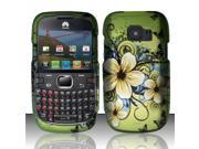 BJ For Huawei Pinnacle 2 M636 Rubberized Hard Design Case Cover - Hawaiian Flowers