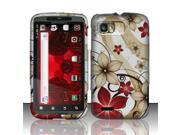BJ For Motorola Atrix 2 MB865 Rubberized Hard Design Case Cover - Red Flowers