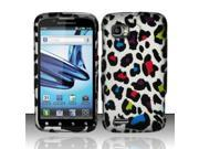 BJ For Motorola Atrix 2 MB865 Rubberized Hard Design Case Cover - Colorful Leopard