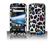 BJ For Motorola Atrix 4G MB860 Rubberized Hard Design Case Cover - Colorful Leopard