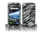 BJ For Motorola Atrix 4G MB860 Rubberized Hard Design Case Cover - Zebra