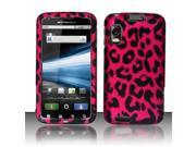 BJ For Motorola Atrix 4G MB860 Rubberized Hard Design Case Cover - Hot Pink Leopard