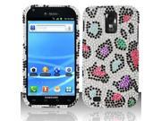 BJ For Samsung Hercules T989 Galaxy S2 Full Diamond Design Case Cover - Colorful Leopard