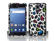 BJ For Samsung Infuse 4G i997 Rubberized Hard Design Case Cover - Colorful Leopard