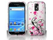 BJ For Samsung Hercules T989 Galaxy S2 (T-Mobile) Rubberized Design Case Cover - Pink Vines