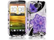 HRW for HTC One X Design Cover - Violet Lilly