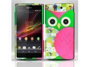 BJ For Sony Xperia Z (T-Mobile) - Rubberized Design Case Cover - Owl