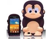 BJ For Samsung Epic Touch 4G D710 / Galaxy S2 (Sprint/Boost) - Monkey Style 3D Silicone Case - Brown Monkey SCMK