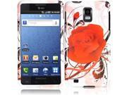 HRW For Samsung i997 Infuse 4G Design Cover -Rosy Rose