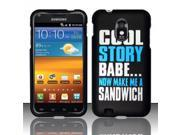 BJ For Samsung Epic Touch 4G D710 / Galaxy S2 (Sprint) Rubberized Design Case Cover - Cool Story Babe Design