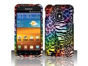 BJ For Samsung Epic Touch 4G D710 / Galaxy S2 (Sprint) Rubberized Design Case Cover - Rainbow Safari