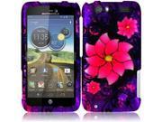 HRW For Motorola Atrix 3 MB886 Atrix HD Rubberized Design Cover Case - Divine Flower