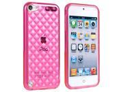 eForCity TPU Rubber Case Cover Compatible with Apple® iPod touch 5th Generation, Clear Hot Pink Diamond