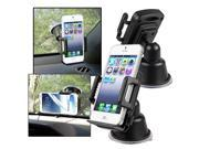 eForCity Universal Suction Mount In Car Phone Holder, Black