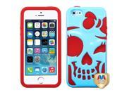 MYBAT Baby Blue / Red Skullcap Hybrid Protector Cover compatible with Apple iPhone 5 / 5S