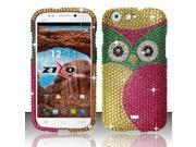 For BLU Life One L120 - Full Diamond Design Cover - Owl FPD