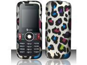 BJ For Huawei Pal U2800 / U2800a (MetroPCS / AT&T) Rubberized Design Cover - Colorful Leopard