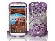 For BLU Life One L120 - Full Diamond Design Cover - Purple Beats