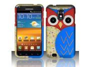 BJ For Samsung Epic Touch 4G D710 Galaxy S2 - Rubberized Design Cover - Owl 3
