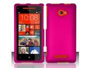 BJ For HTC Windows Phone 8X 6990 / Zenith (AT&T, T-Mobile, Verizon) Rubberized Cover - Rose Pink