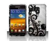 BJ For Samsung Epic Touch 4G D710 Galaxy S2 - Rubberized Design Cover - Black Vines