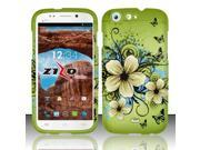 For BLU Life One L120 - Rubberized Design Cover - Hawaiian Flowers