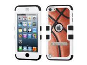 MYBAT Basketball-Sports Collection / Black TUFF Hybrid Phone Protector Case (with Stand ) compatible with Apple iPod touch (5th generation )