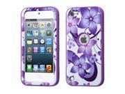MYBAT Purple Hibiscus Flower Romance / Electric Purple VERGE Hybrid Protector Case compatible with Apple iPod touch (5th generation)