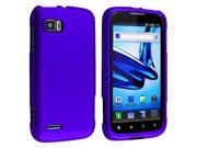 eForCity 7 Accessory Blue Hard Case Cover + Reusable Screen Protector + USB Cable + Charger + Headset For Motorola Atrix 2 MB865