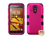 Titanium Solid Hot Pink / Black TUFF Hybrid Phone Protector Cover For KYOCERA C6730 (Hydro Icon) / C6530 (Hydro Life)
