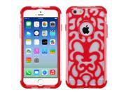 iPhone 6 Case - eForCity T-Clear/Red GloCase Hybrid Case Cover (Brick Pattern) for Apple iPhone 6 4.7""