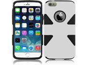 "iPhone 6 Plus Case - Dual Layer Hybrid Plastic PC/Silicone Case Cover For Apple iPhone 6 Plus (5.5""), White/Black"