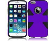 "iPhone 6 Plus Case - Dual Layer Hybrid Plastic PC/Silicone Case Cover For Apple iPhone 6 Plus (5.5""), Purple/Black"