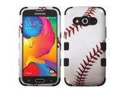 Samsung Galaxy Avant Case - eForCity Baseball Dual Layer Hybrid Rubberized Hard PC/Silicone Case Cover For Samsung Galaxy Avant, White/Red