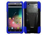 ZTE Quartz Z797c Case, Insten Dual Layer [Shock Absorbing] Protection Hybrid Stand PC/Silicone Case Cover For ZTE Quartz Z797c, Black/Blue