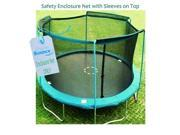 14' Trampoline Enclosure Safety Net Fits For 14 Ft. Round Frame Using 4 Arches, with Sleeves on top (poles not included)