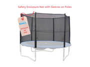 Upper Bounce 4 Pole Trampoline Enclosure Set to fit 12 FT. Trampoline Frames with set of 2 or 4 W-Shaped Legs (Trampoline Not Included)