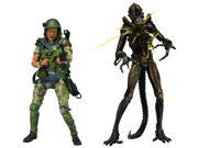 Aliens 7-In Hudson V Brown Warrior Action Figure 2 Pack