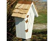 Heartwood Butterfly Bijou Butterfly House, White with Shingled Roof