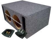 CAR AUDIO DUAL 8 SLOT PORTED SUBWOOFER ENCLOSURE SPL BASS SPEAKER SUB BOX